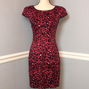 NWT French Connection Red Cap Sleeve Dress (2)